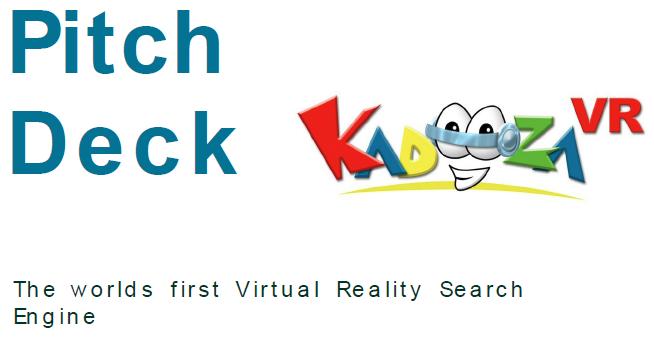 Kadooza VR Pitch Deck Logo